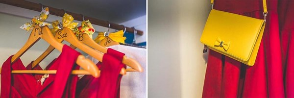 red-bridesmaids-dresses-yellow-bags, nick rutter photo