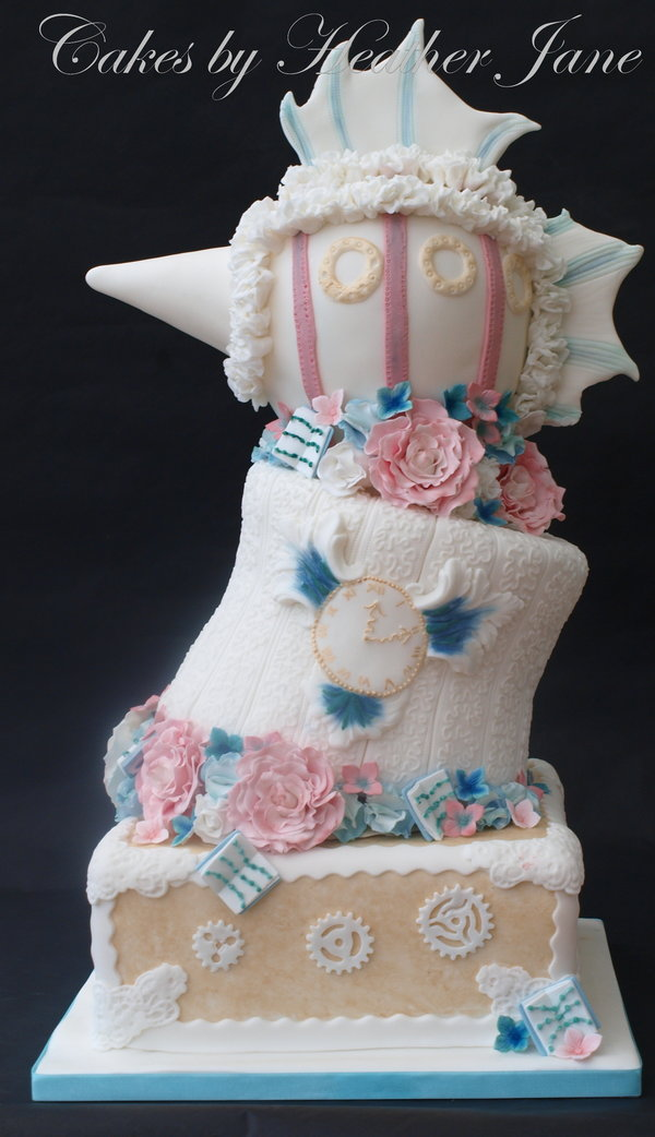 MrsPandPs Sunday Morning Cuppa, Wedding Blog, Blog Catch up, April 19th 2015, bespoke wedding cake, cakes by heather jane, quirky wedding cake, steampunk wedding cake, uk wedding blog, unusual wedding cake, Wedding Cake