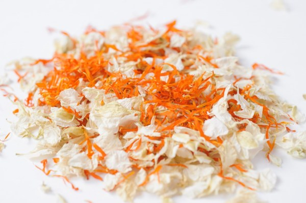 ShropshirePetals.com,  Orange Blossom mix confetti, colourful confetti, wedding confetti