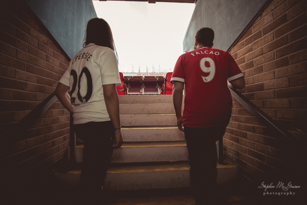 stephen-mcgowan-photography, old-trafford-engagement-shoot, football-inspired-engagement-shoot, manchester united
