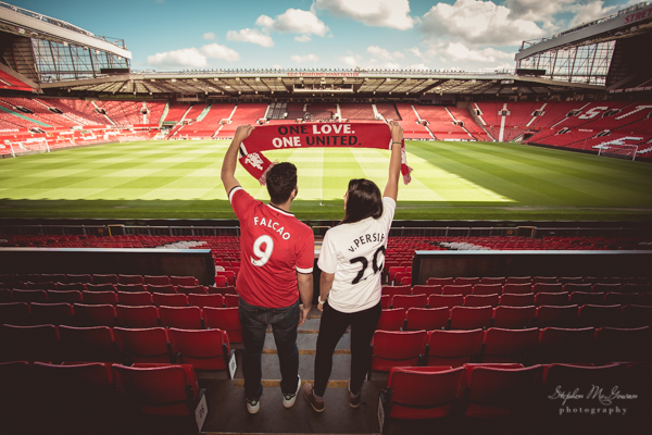 stephen-mcgowan-photography, old-trafford-engagement-shoot, football-inspired-engagement-shoot , manchester-united