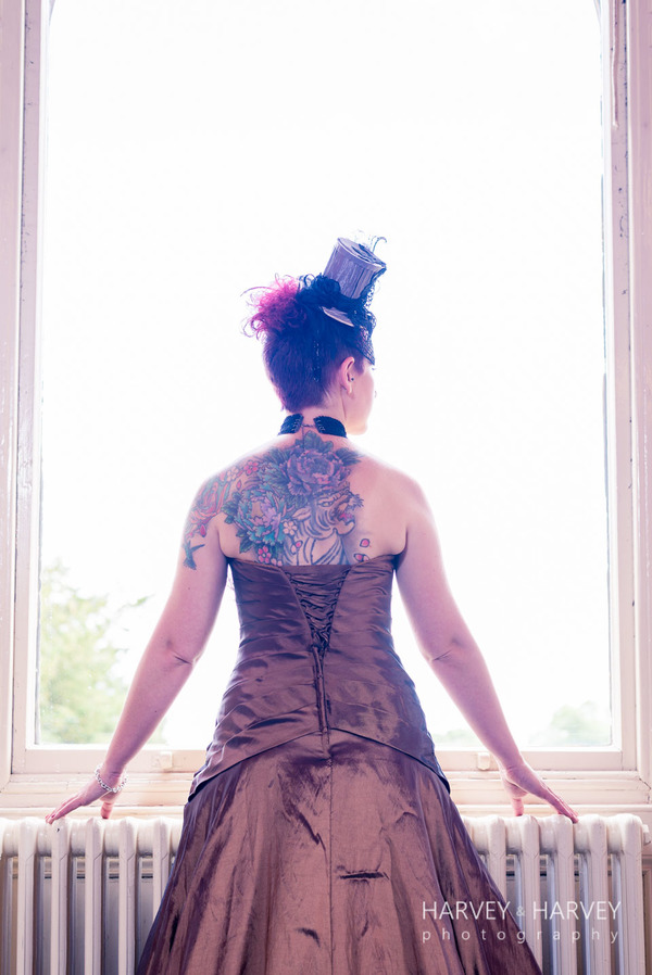 harvey-and-harvey-photography-rock-your-wedding-dress-shoot-stoke-rochford-hall-steampunk-wedding-inspiration-dolls-mad-hattery-charlotte-wesson-hair-paula-tennant-MUA (46)