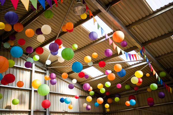 © jamie penfold photography 2015 - www.memoriesandemotions.co.uk, colourful paper lanterns, diy wedding