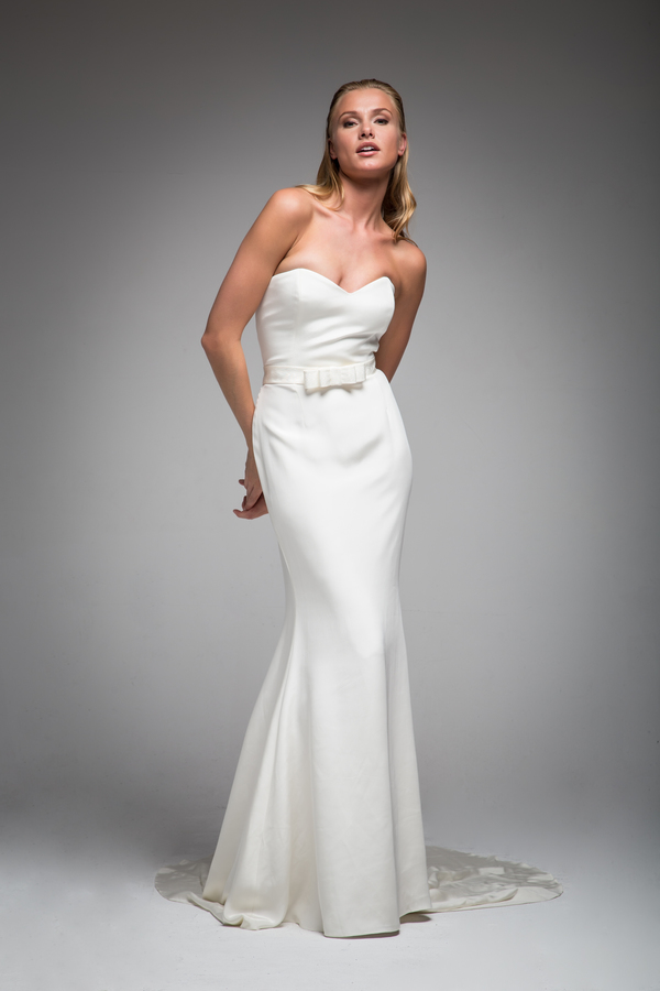 stiffened bow belt, sarah janks, bridal wear, elan collection