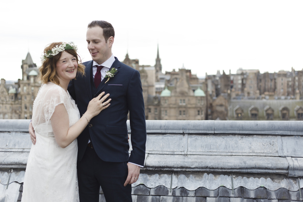 Melanie and Olivers Wedding Day in Scotland at the Balmoral Hotel.