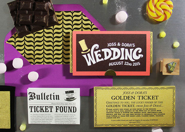 Willy Wonka collection , BelleInk, wedding stationery