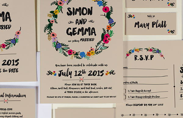 Country collection, BelleInk , Wedding Stationery
