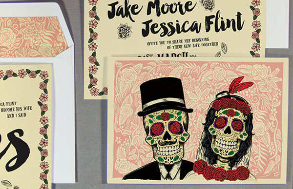 Day of Dead Collection, BelleInk, Wedding Stationery