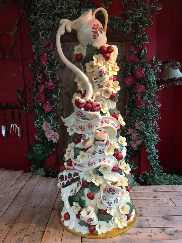 strawberries_and_cream, sculptural chocolate cakes, chocolate cakes, alternative choclate cakes, alternative wedding cakes, wedding cakes, bespoke wedding cakes, alternative bespoke wedding cakes, Choccywoccydoodah