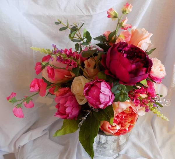 deep pink silk flowers, bride2bouquets, silk flowers, artificial flowers, bespoke silk flowers, wedding flowers, silk wedding flowers, silk flowers for events