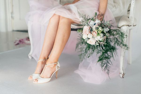 Amelia ivory and gold leather hearts t-bar heels by Charlotte Mills - £250