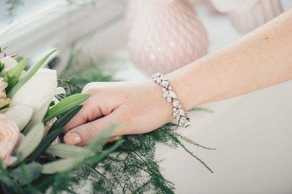 Clustered crystal bracelet by Ben-Amun - £225, wedding accessories, liberty in love