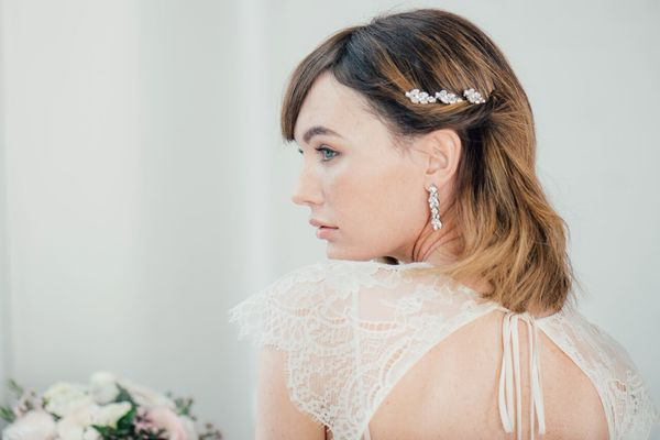 Crystal cluster drop earrings by Ben-Amun - £225 , liberty in Love, wedding accessories