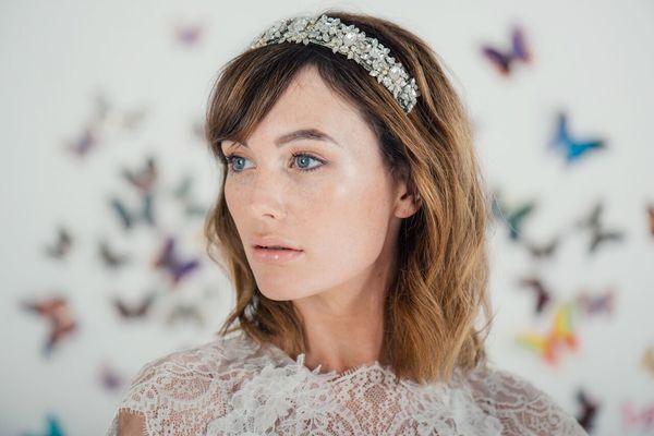 Diana elaborately embellished headpiece by Halo and Co - £435, liberty in love, wedding accessories