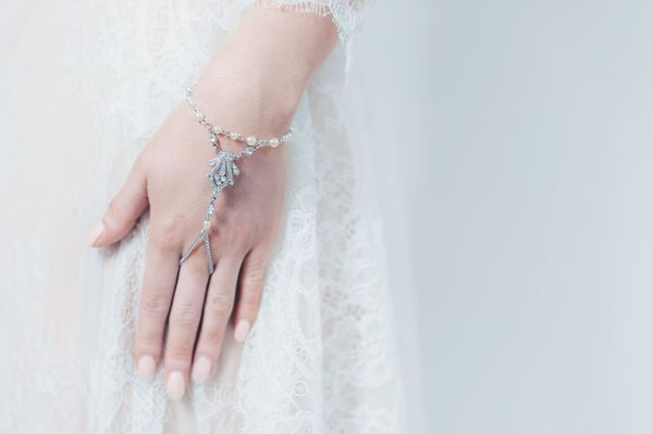 Sleeping lily hand bracelet by Ben-Amun at Liberty in Love - £110, wedding accessories, Liberty in Love