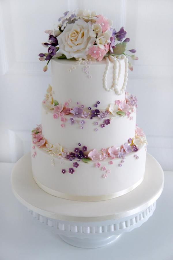 morningside bakes, floral cake, wedding cake, celebration cake