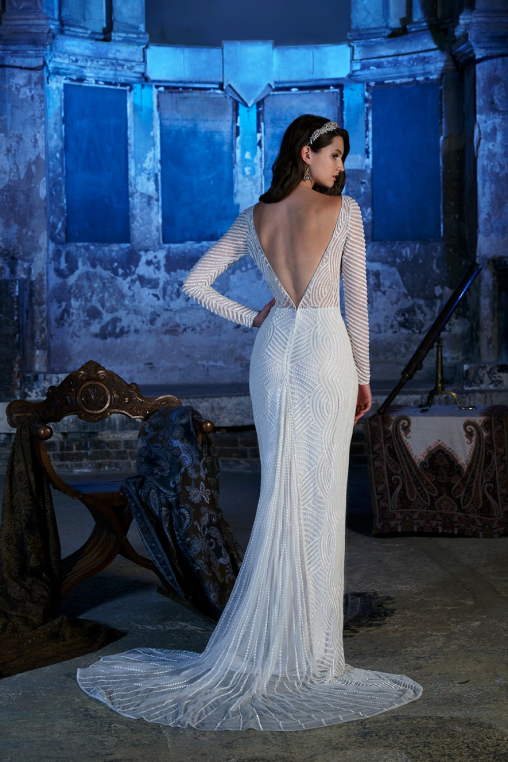 luna-dress-back, Vintage inspired Wedding Dresses , 2017 Stardust Collection , Eliza Jane Howell, Images - Chris Dawes Photography