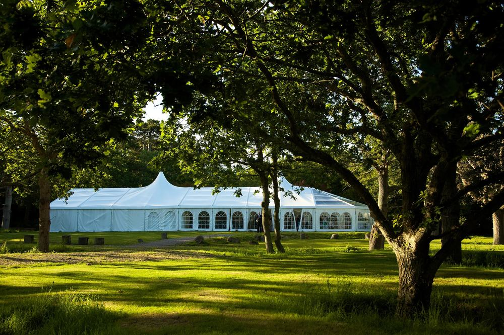Marquee during wedding, tournerbury woods estate