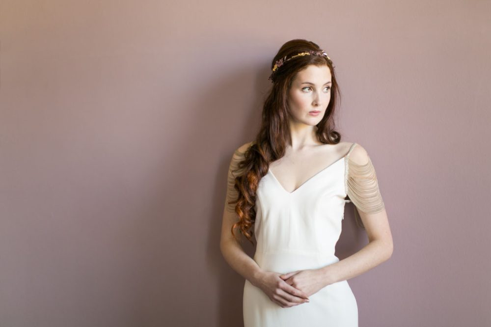 victoria-millesime, odette-gold-orchid-bridal-crown, Image by Anneli Marinovich