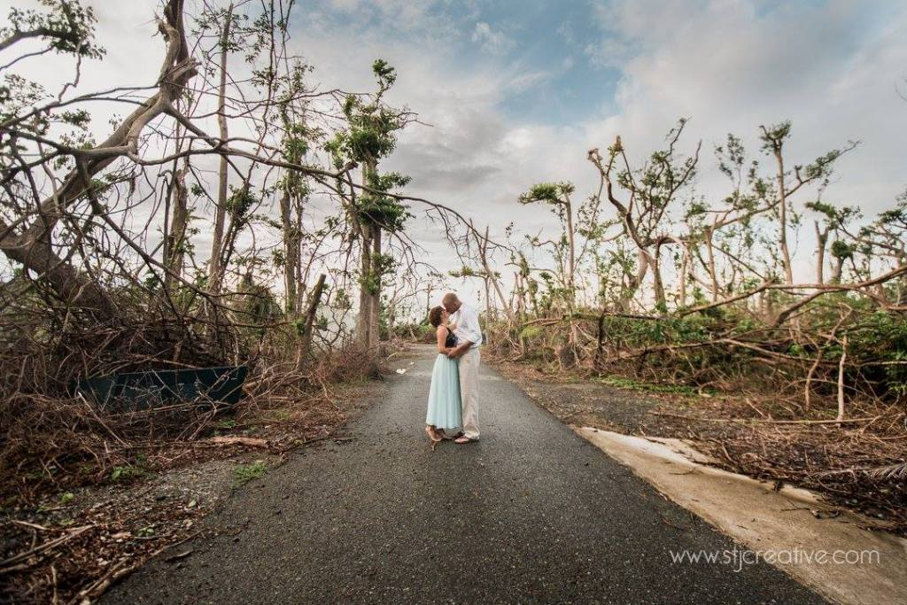 Virgin Islands Engagement Shoot , Hurricane Irma, STJ Creative Photography