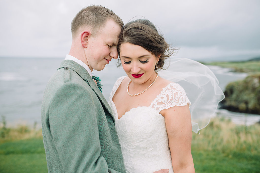 Ayrshire Wedding - Trump Turnberry - sage green and peach wedding details - The Gibsons Photography