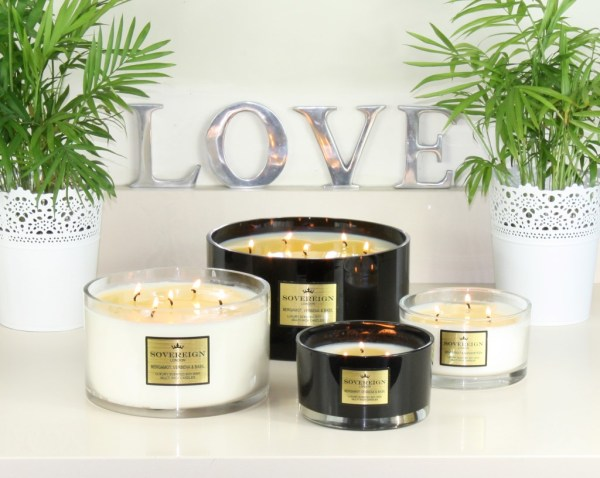 Beautifully Fragranced Luxury Multi Wick Candles from Sovereign Candles for Wedding or Home