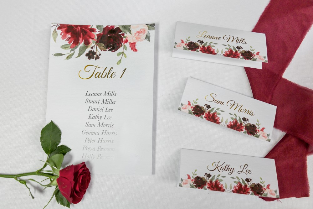 winter wedding - wedding stationery