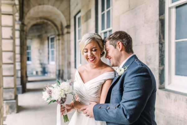 An Elegant New York inspired Edinburgh Wedding with stunning cream, silver and gold accents