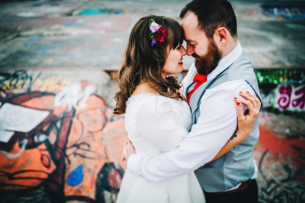 A colourful warehouse wedding at Camp and Furnace in Liverpool with a party vibe