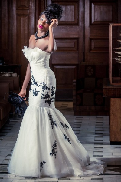 Elegant Monochrome City Chic Wedding Inspiration with aspects of French and African style
