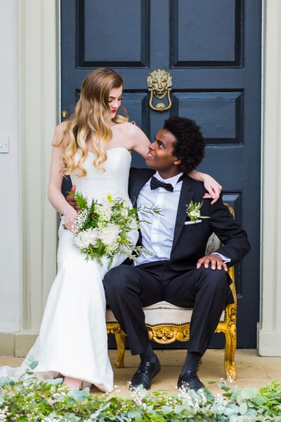 Elegant white and gold wedding inspiration with a dash of Old Hollywood Flair