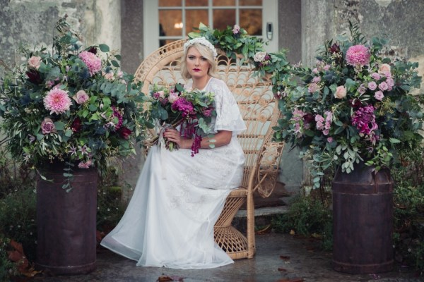 Romantic Vintage and Bohemian inspired wedding styling for the free spirited bride