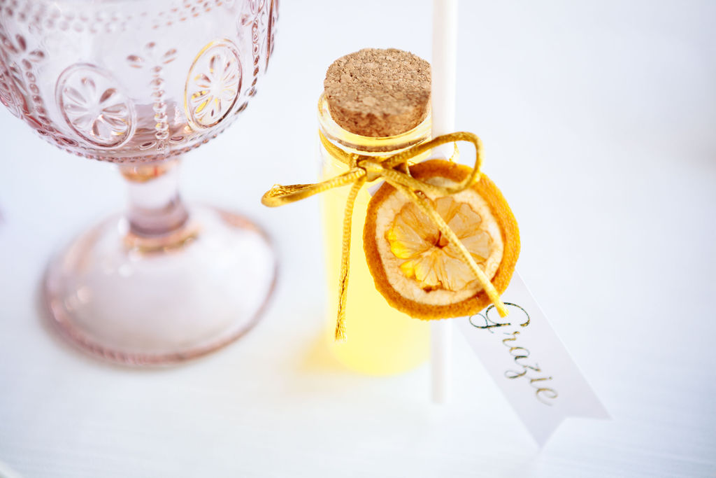 Elizabeth Armitage Photography - colourful wedding tablescape - limoncello wedding favour