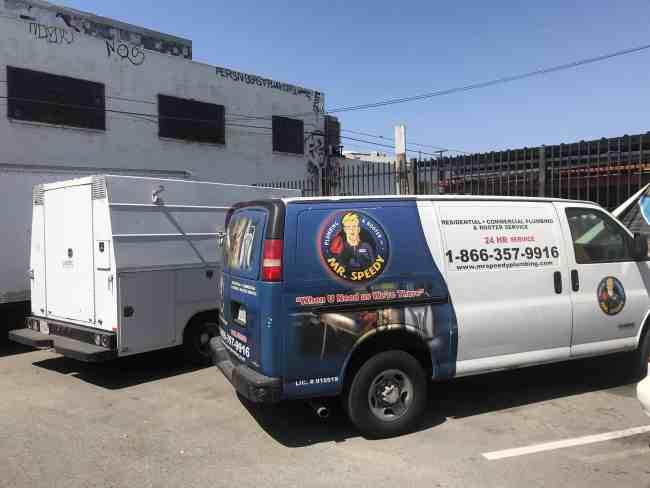 west los angeles plumber truck