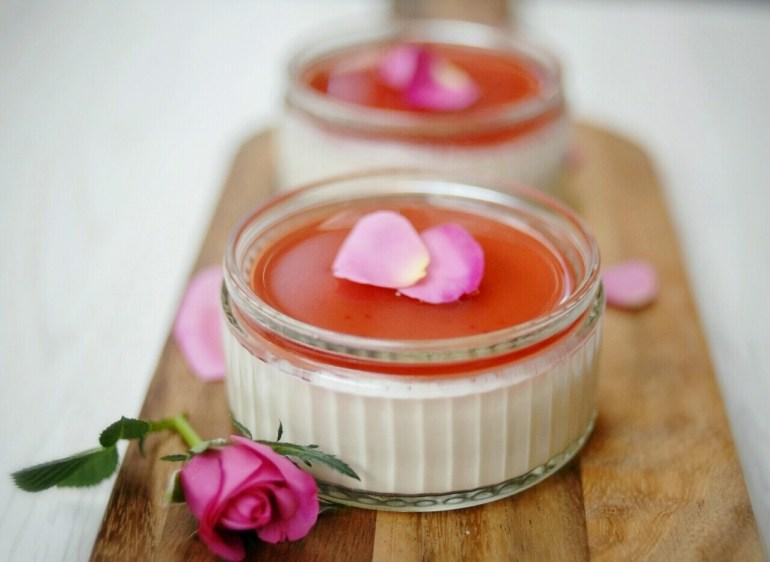 玫瑰洛神花奶酪 Rose & Hibiscus Panna Cotta