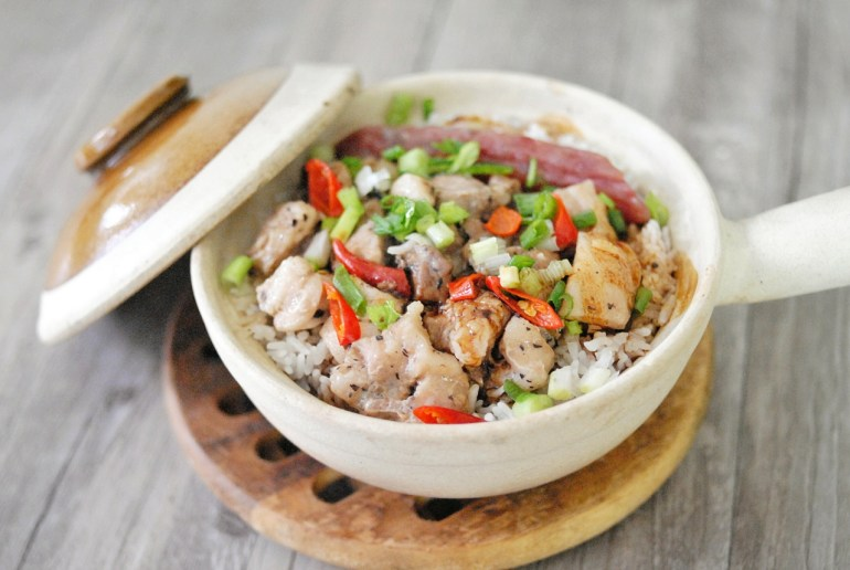 Clay Pot Rice with Black Bean Ribs & Chinese Sausage
