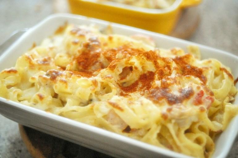 Recipe - baked seafood fettucine