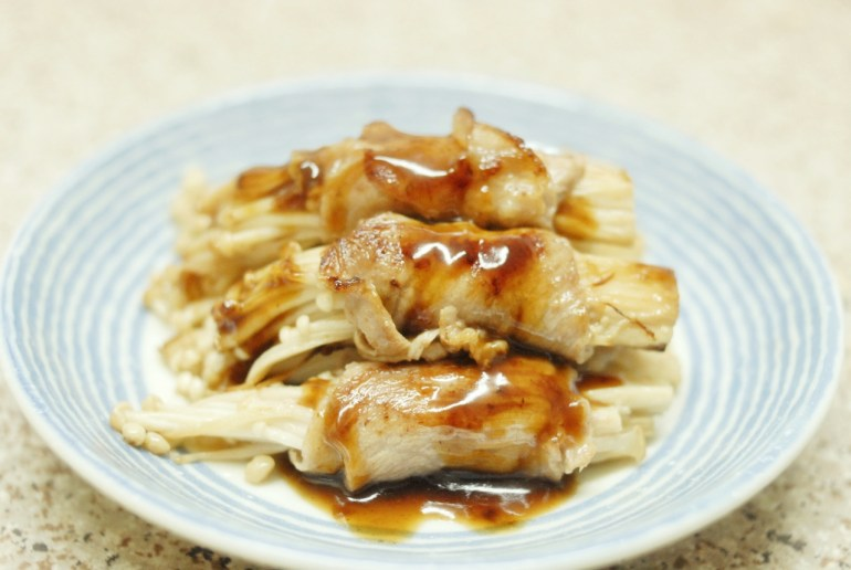 Recipe -Enoki Mushroom Pork Rolls