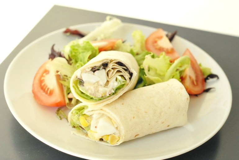 Recipe - tuna salad wrap