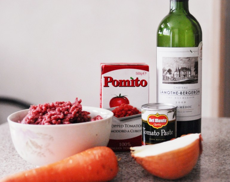 recipe - Bolognese meat sauce