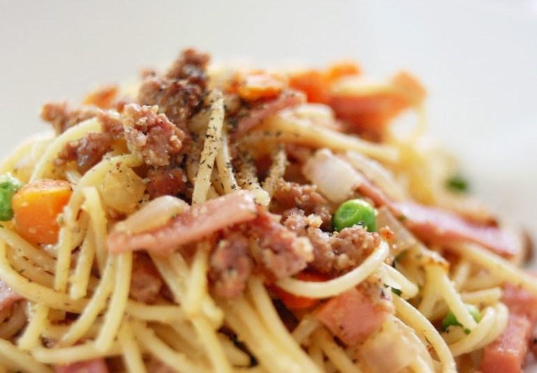 Recipe - Garlic Minced Pork Spaghetti