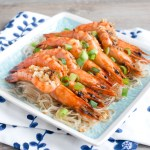Steamed Garlic Shrimps with Vermicelli Noodles 蒜蓉粉絲蒸蝦