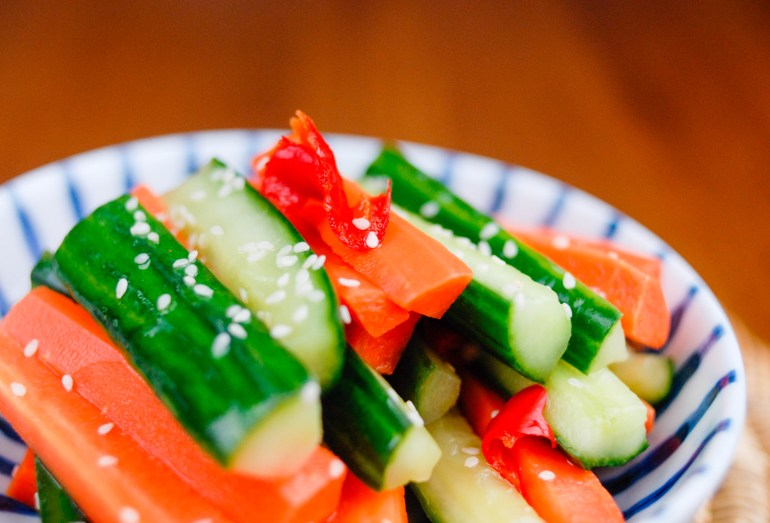 Pickled Cucumbers & Carrots