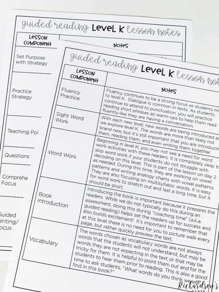 Guided Reading Level K: Books and Lesson Plans to Advance