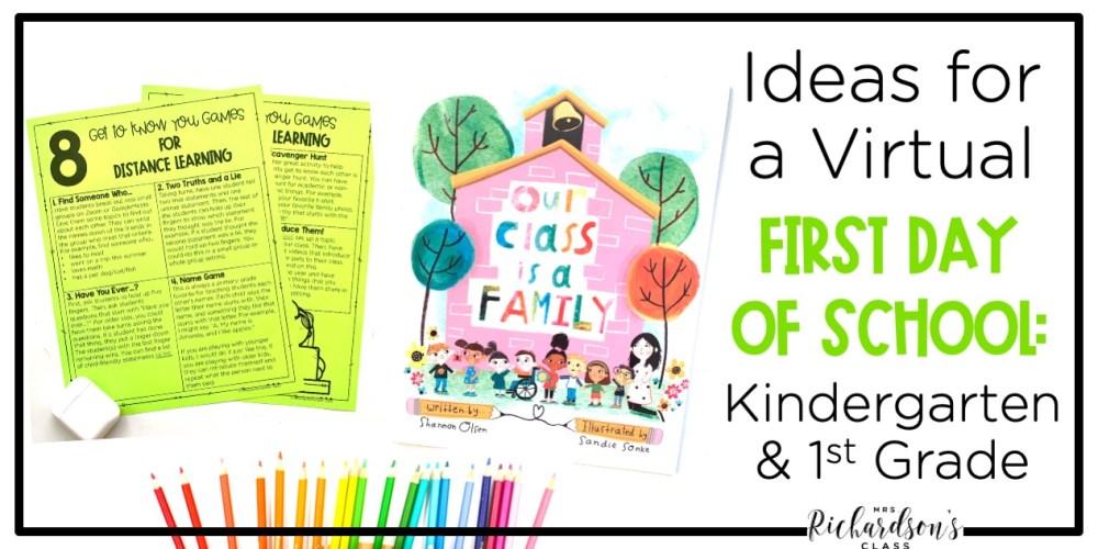 medium resolution of Ideas for a Virtual First Day of School: Kindergarten \u0026 1st Grade - Mrs.  Richardson's Class