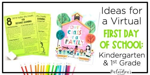 small resolution of Ideas for a Virtual First Day of School: Kindergarten \u0026 1st Grade - Mrs.  Richardson's Class