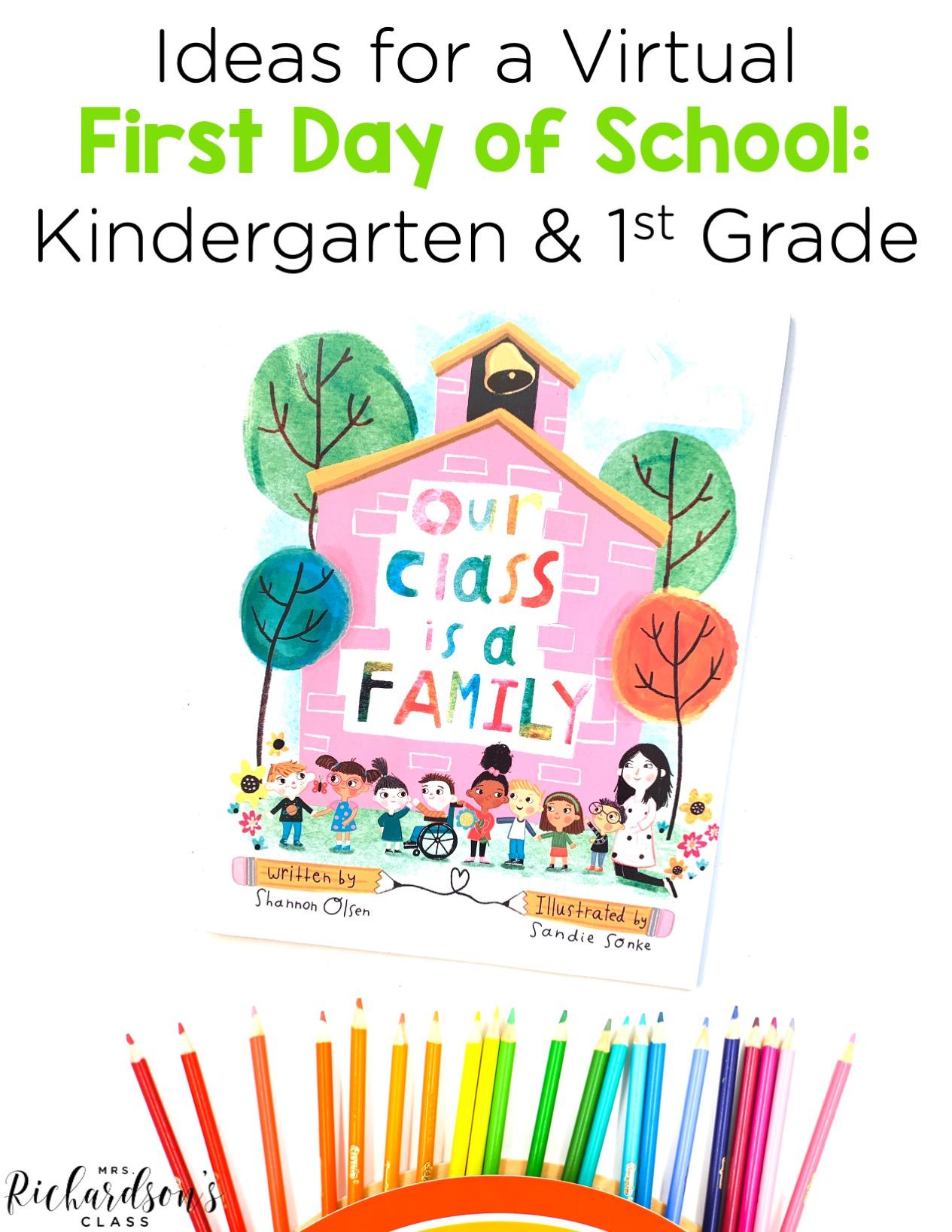 hight resolution of Ideas for a Virtual First Day of School: Kindergarten \u0026 1st Grade - Mrs.  Richardson's Class