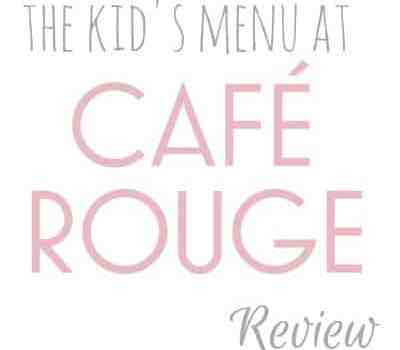 Cafe Rouge review