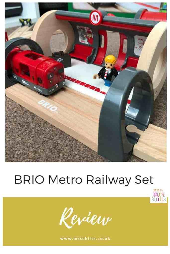 PIN BRIO Metro Railway Set