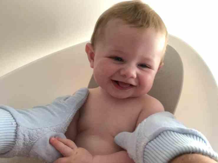 Flannel Fingers Blue Baby Bath